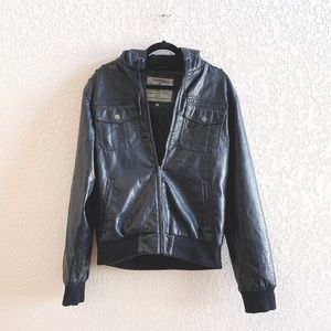 Brave Soul Jackets & Coats - Mens Brave Soul Luxe Faux Leather Jacket